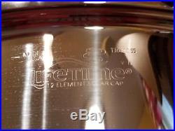 LIFETIME 6QT Stock Pot & 11 Skillet 12 Element Solar Cap T304 CC Lid & Dome