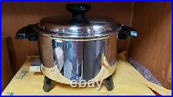 LIFETIME REGALWARE 5 QT Liquid Core MP5 Electric Slow Cooker Pot Stainless