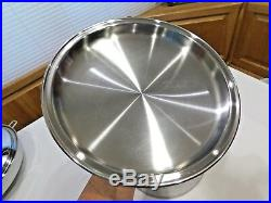 LIFETIME West Bend 12QT Roaster Stock Pot & Lid T304CC Solar Cap Stainless