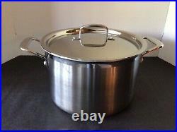 Le Creuset 3-ply Stainless Steel 7 1/2 Quart 9 1/2 Stock Soup Pot LID #8053