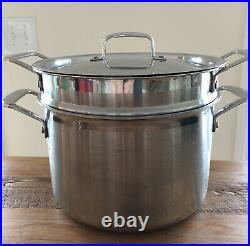 Le Creuset Classic Stainless Steel Stockpot Steamer Set 7 1/2-Qt