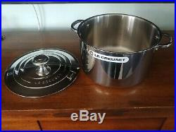 Le Creuset Tri-Ply Stainless Steel Stockpot with Lid, 7 Quart NEW