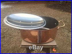 Mauviel 7 Qt. Williams Sonoma 15.75 Copper Stew Stock Pan Pot Stainless Lining