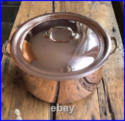 Mauviel Copper & Stainless Steel 6 Quart Stock Pot with LidBronze Handles New