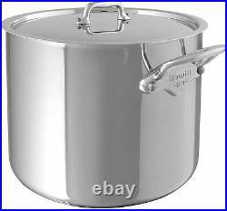 Mauviel M'Cook Ferretic 9.4 Stockpot & Lid w Cast Stainless Steel Handle 523225