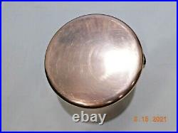 Mauviel Williams Sonoma 5.5 Qt 10 Stock Pot Copper Stainless Lined 6.3 Lbs