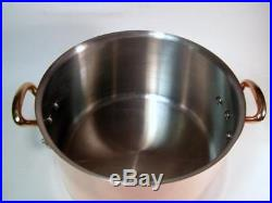 Mauviel for Williams Sonoma Stainless Lined Copper Stock Pot with Bronze Handles