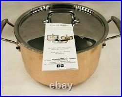 Mauviel of France Copper & Stainless Steel 6.4 Quart Stock Pot with Lid