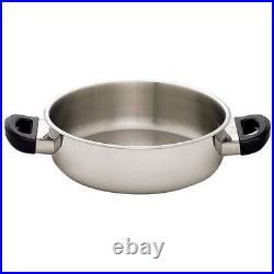 Maxam 17 piece Stainless Steel Cookware Set T304 Pan Professional Series KT172