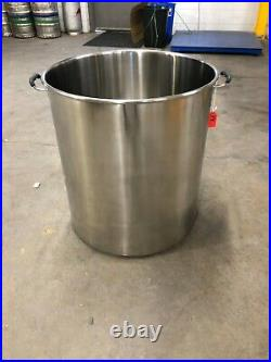 NEW 30gal/120qt Polished Stainless Steel Stock Pot Brewing Kettle with Lid