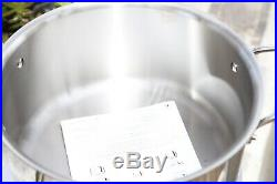 NEW All-Clad d5 Brushed Stainless Steel Stockpot, 8 qt SD55508 Pot