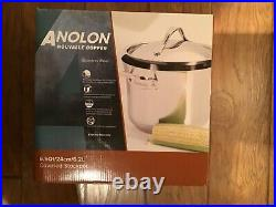 NEW Anolon Nouvelle Copper Stainless Steel 6.5-Quart Covered Stockpot