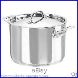NEW CHASSEUR MAISON STOCKPOT 24cm/7.6L STOCK POT STAINLESS STEEL COOKWARE LID