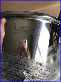 NEW Lifetime Stainless Steel 12 Layer Solar Cap 4 Qt Dutch Oven Stock Pot