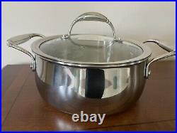 NEW PRINCESS HOUSE TRI-PLY STAINLESS STEEL 3.5 Qt. Casserole Stockpot 6210
