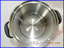 NEW ROYAL PRESTIGE 4 QT STOCK POT USED STEAMER & LID 5Ply T304 Stainless Steel