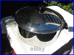 NEW SALADMASTER 16QT ROASTER STOCK POT TP304S SURGICAL STAINLESS STEEL BEAUTIFUL