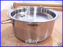 NEW SALADMASTER 7 Quart Roaster Stock Pot & Cover 316Ti Titanium Stainless