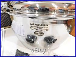 NEW SALADMASTER 8.5 QT GOURMET ROASTER STOCK POT 316Ti TITANIUM STAINLESS