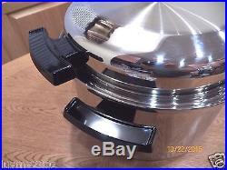 New West Bend Kitchen Craft 12 Qt Familie Cooker Pot Waterless Cookware USA Made