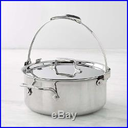 NIB williams sonoma All-Clad d5 Stainless Steel 7 qt pouring stock pot