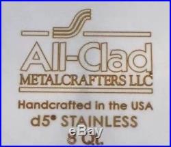New All Clad 8 Qt Quart Brushed d5 Stock Pot (1st Quality, Authentic, NIB)