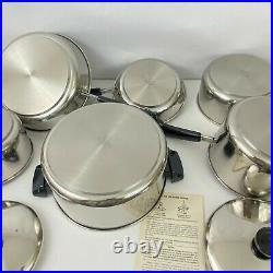 New Old Stock Revere Ware Stainless Steel Aluminum Bottom 13pc Set in Box NOS