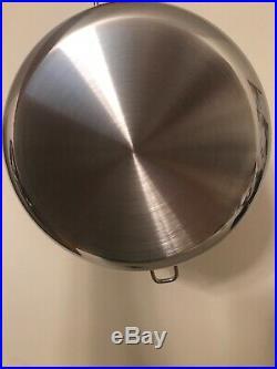 New SALADMASTER 316Ti Titanium Stainless Steel 5 Qt Roaster Stock Pot No Lid