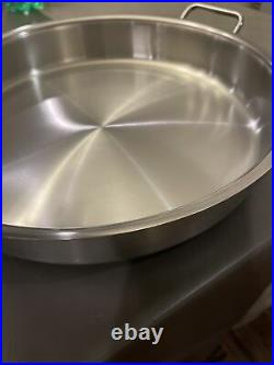 New Silga Teknika Stainless Steel 36cm (14 in) Pot Braiser With Dome Lid