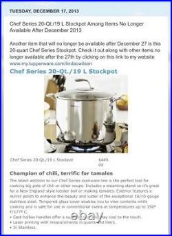 New! Tupperware Stainless Steel Stockpot (20Qt/19L)