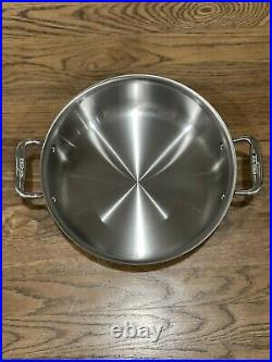 New USA All-Clad D3 Stainless Steel 6 Qt. Stockpot with Lid All Clad Tri-Ply Pot