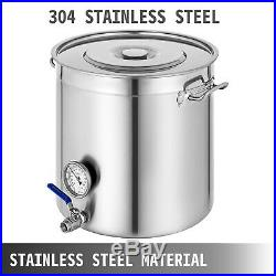 New VEVOR Stainless Steel Home Brew Kettle Brewing Stock Pot Beer Set