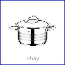 OMS 1045 Cookware Professional Stainless Steel Casserole Sauce-pot Stockpot Set