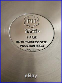 Olla de 19qt Acero Inoxidable (Princess House) Stainless Steel 19qt Stockpot