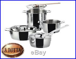 Pan Sets 7 Pieces ALESSI Pots&Pans AJM100S7 18/10 Stainless Steel Induction