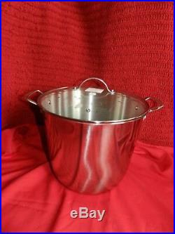 Princess House 5813 18/10 Stainless Steel Classic 19 Qt. Stock Pot New With Box