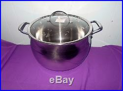 Princess House Heritage Tri-Ply Stainless Steel 22-Qt. Stockpot #5701 NEW IN BOX