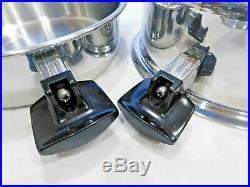 Pro Health Ultra 6 Qt Stock Pot 2 Lids 7 Ply 19-9 Stainless Steel Titanium