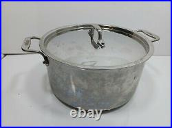 Quality All-Clad 8 Quart Stock Soup Pot Dutch Oven Stainless Steel With Lid