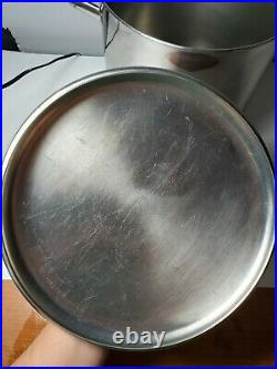 REVERE WARE 1801, 12qt STOCK POT & LID Stainless with Copper Bottom Clinton IL