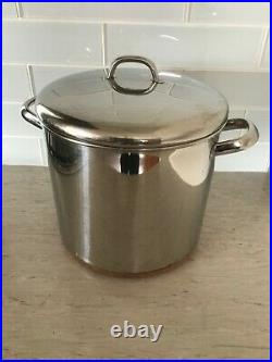 REVERE WARE 1801, 12qt STOCK POT & LID, Stainless with Copper Bottom, Rome NY