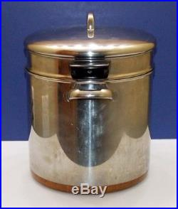 REVERE WARE 18 Qt Stainless Steel & Copper Stock Pot Pasta Strainer Steamer Lid