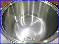 ROYAL PRESTIGE 12 QT Roaster Stock Pot & Lid 7 Ply Titanium Copper Stainless