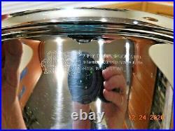 ROYAL PRESTIGE 12 QT STOCK POT T304 Stainless Titanium Copper Waterless USA