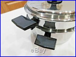 ROYAL PRESTIGE 6 QT Stock Pot Steamer & Lid 7 Ply Titanium Copper Stainless MINT
