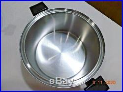 ROYAL PRESTIGE 8 QT Stock Pot Steamer & Lid 7 Ply Titanium Copper Stainless