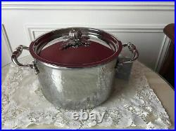 RUFFONI Opus Prima Hammered Stainless-Steel Stock Pot with Pumpkin Knob NWT