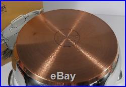 Rare Nos Revere Ware Stainless Copper Ellipse 8qt Covered Stock Pot Korea (1999)
