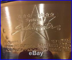 Rare SALADMASTER SYSTEM 7 TP304-316 16 QT POT ROASTER STOCK POT with VAPO LID