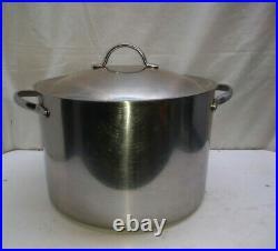 Revere PRO LINE Copper Core Stainless 10 Qt Stockpot Dutch Oven Roaster Pan Lid